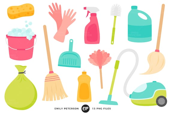 50 off sale spring cleaning clip art chores clipart housework rh etsystudio com spring clean up clipart free spring cleaning sale clipart