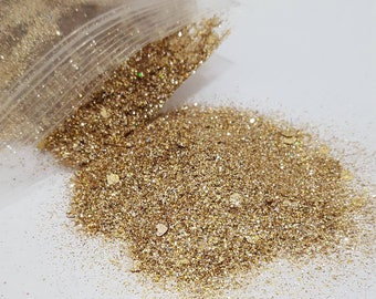 Yellow Gold Extra Fine with XL Chunky Custom Glitter Mix for Cups Stainless Steel Tumblers Item GOLDNo2