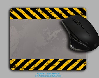 Gamer Mouse Pads Cement with caution stripes mousepad cloth top MP-075