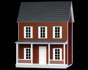Simple , Quick & Easy Wooden Dollhouse Kit, Home Sweet Home, Scale One Inch
