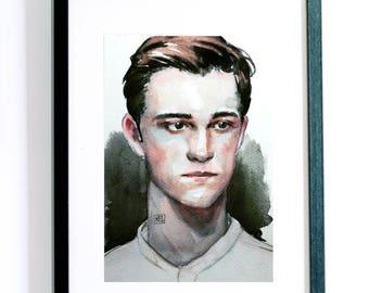 02【KailynnArt】Custom Watercolor Portrait 40X50cm(include frame ) Couple/Single