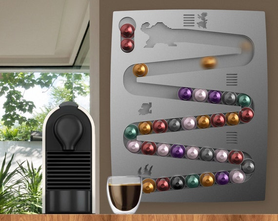 nespresso donkey kong wall mount for coffee capsules. Black Bedroom Furniture Sets. Home Design Ideas