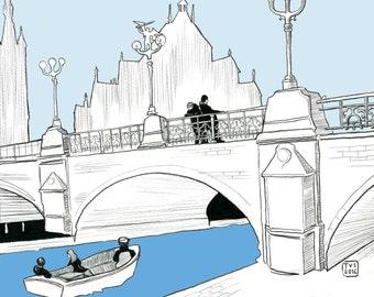 31 days in Belgium, day 25: St Michael's Bridge, Ghent.