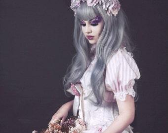 Candy Stripe Burlesque Wedding Boudoir Top Romantic Lolita Bridal KAWAII By Ophelias Folly