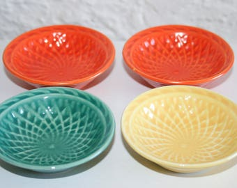 1930s Homer Laughlin Harlequin Bowls