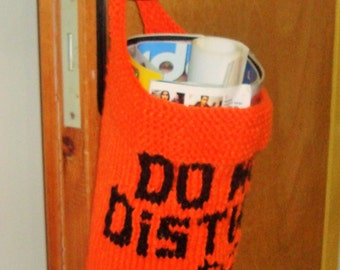 Personalized Mothers Day Gift Basket Hand Knitted Knit Door Hanger Basket Choise Colors, Lettes, Word