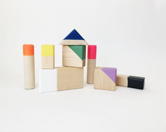 Wooden Block Set By Willful Goods | Toddler, Birthday gift, office gift