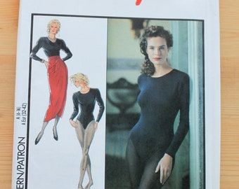 Style Bodysuit and Sarong Skirt Pattern #1788 - Size 6-16 - UNCUT Pattern - printed 1990