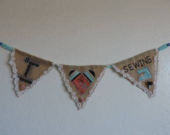 I Love Sewing Banner