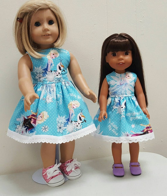 Frozen Wisher Wisher Dress or American Girl Doll