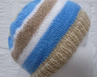 Beanie vintage hat cosy accessory handmade knit 90s beanie hat fall winter teens boys girls accessory striped beanie knit hat handmade teens