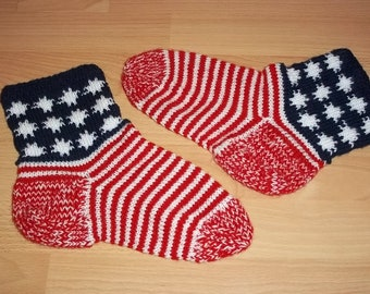 Knitted socks, size 39-40