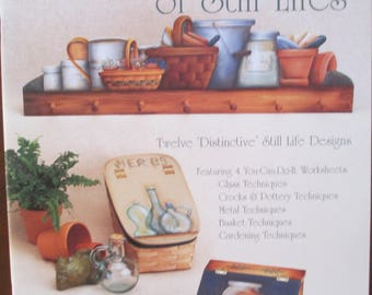 """Folk Art Decorative book """" A Gathering Of Still Lifes""""  by  Judy Diephouse 42 pages 1999 used book"""
