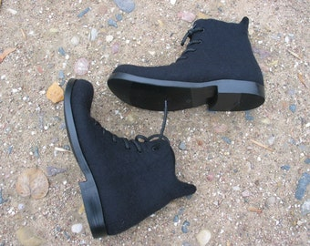 Hand-felted men boots DOPPIO