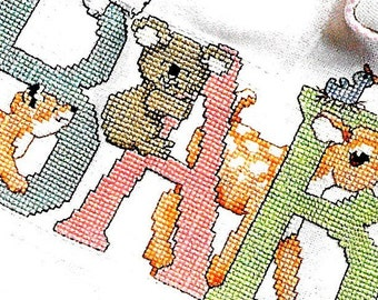 Good Natured Girls Just For Baby Counted Cross Stitch Pattern Book Charted Design Needlework Baby Patterns DIY Gift Ideas Birth Samplers