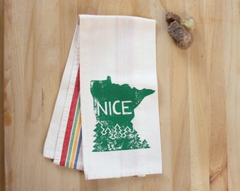 Minnesota Nice - Screenprinted Kitchen Dish Towel