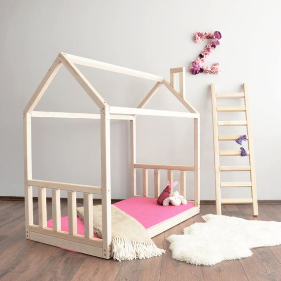 House Bed Frame Toddler Bed Montessori Baby Bed Crib Size