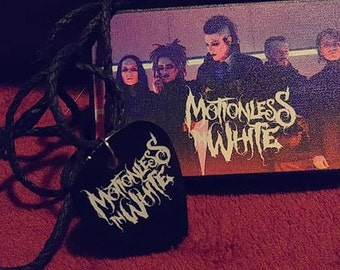 Motionless in White guitar pick necklace