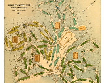Pinehurst Country Club - Course map 1922