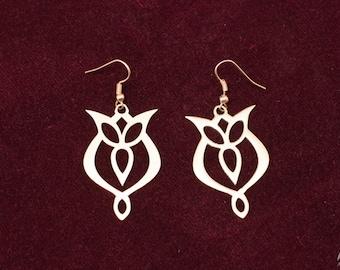 """Earrings """"Trefoil""""; women's earrings; medieval earrings"""