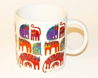 "REDUCED! Lovely LAUREL BURCH ""Fantastic Felines"" Mug / 1988 Ceramic Japan - 4"" Tall / Great Christmas Gift - Cat Lover's Gift!!  Very Nice!!"