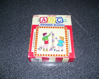 ABC Blocks ABC Wood Blocks UNUSED Vintage