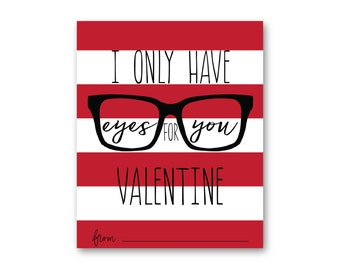 Eyes for You Valentine Red 3x3.5