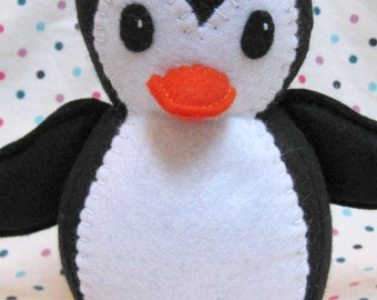 PDF PATTERN Penguin Softie - Patrick the Penguin Plush Sewing Pattern Make Your Own Cuddly Penguin Toy