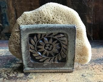 Kitchen Sponge Holder, Ceramic Sponge Holder, Pottery Sponge Holder