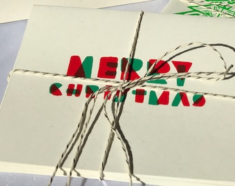 Christmas Card, Screen printed by hand