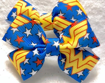 Girly Wonder Woman Bow Set