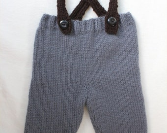 KNITTING PATTERN - Baby Overalls (ages 3-12 months) PDF knitting pattern