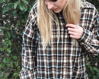 Vintage Pendleton Wool Plaid Shirt / Size Large