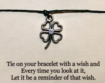 Four Leaf Clover Wish Bracelet