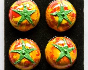 Ceramic Relief Tomatoe Tile, Tomatoes Tile, Kitchen/Dining Decor Relief Tiles, Ceramic Kitchen/Dining Wall Art, Tomatoe Wall Art, Veggie Art