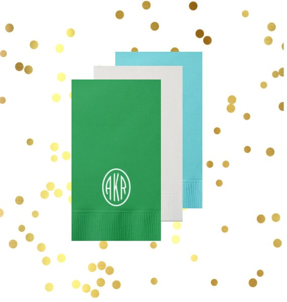 Circle monogram guest towels, personalized guest towel, reception guest towels, hostess gift, housewarming gift, custom napkins