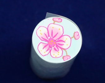 Raw uncured Cherry Blossom polymer clay cane
