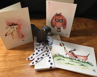 Dachshund Doggy Notecards
