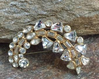 Rhinestone Wedding Brooch Wedding Bouquet Brooch Bridal Accessory Rhinestone Wedding Pin Bridal Accessory