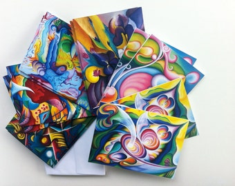 Abstract Art Notecard Set, from Original Expressionist Paintings by Tiffany Davis-Rustam