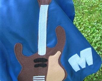 Custom Superhero Cape For a Guitar Lover