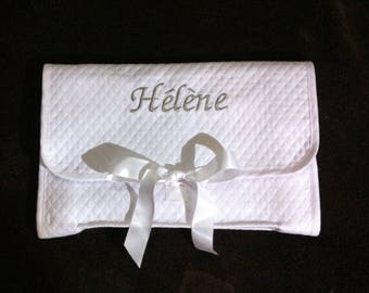 Delicate and personalized with name lingerie pouch