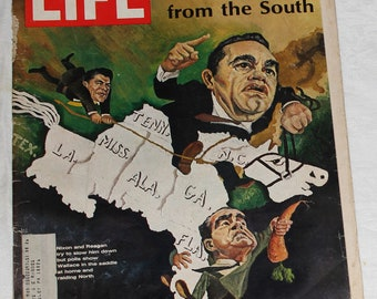 Life Magazine - August 2, 1968 Back Issue:  many articles including Third-party Wallace, Railroads, Dr. D Cooley and more