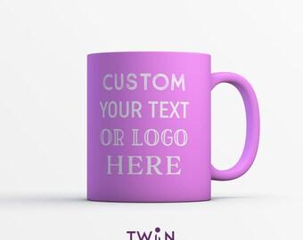 Personalised CUSTOM PINK Satin Coated Mug - Any Text You Like!