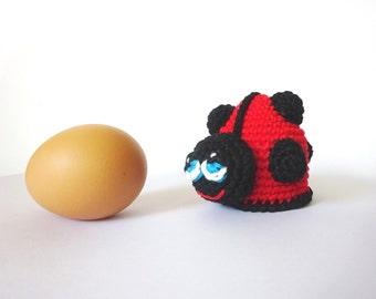 Ladybug Egg Cozy Crochet Pattern