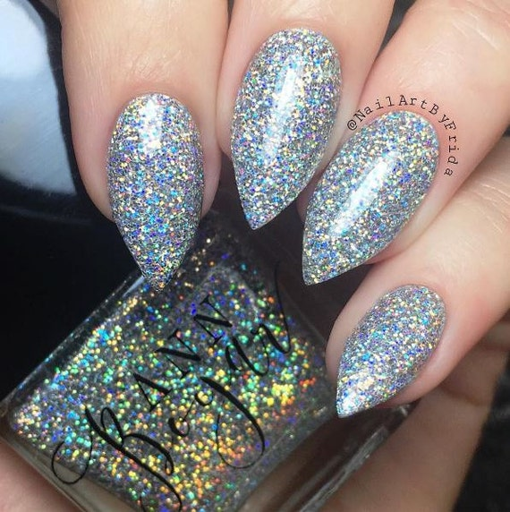 DRY MARTINI - Silver Holo Ultrafine Glitter Nail Polish, Holographic ...