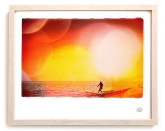 "Surf Art Limited Edition Print ""Drop Knee"" - Borrowed Light Series"
