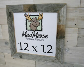 "12x12 BarnWood [Thin x 2""]  Picture Frame"