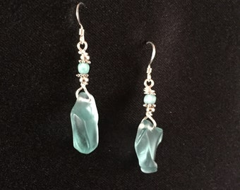 Lake Superior Glass Earrings