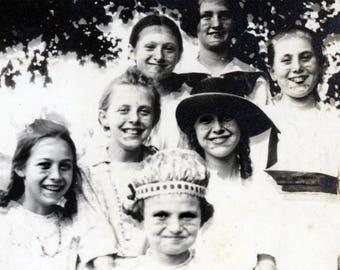 vintage photo Abstract Optic-al Illusion Double Exposure Eyes Little Girls Strange faces